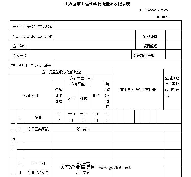 产品检验记录表格